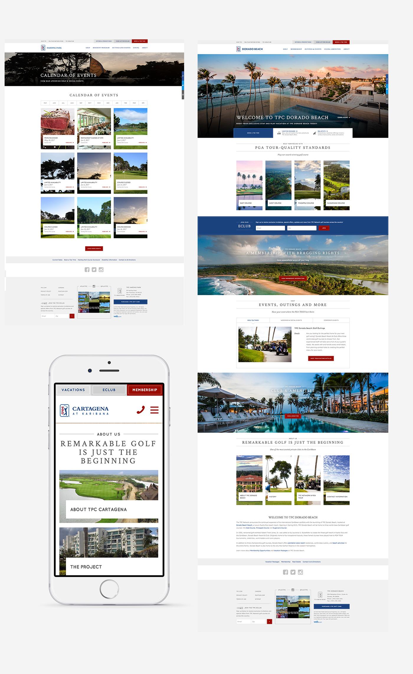 Webdesign Website Design golf PGA sports professionalsports resort golfclubs pgatour Responsive