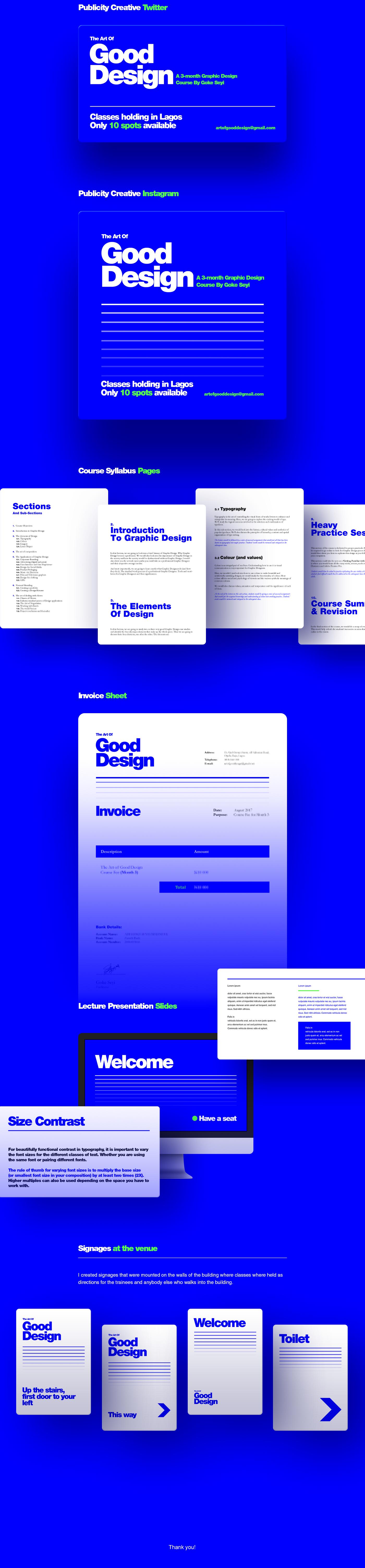 Graphic Design Course visual identity publicity graphic design