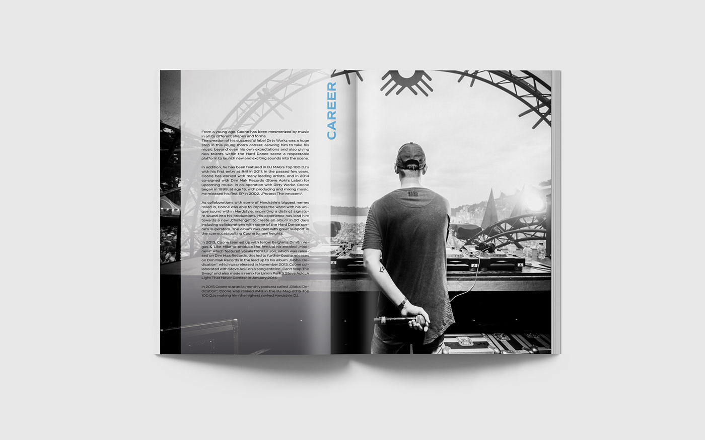 Editorial Design - Short Biography DJ Coone on Behance