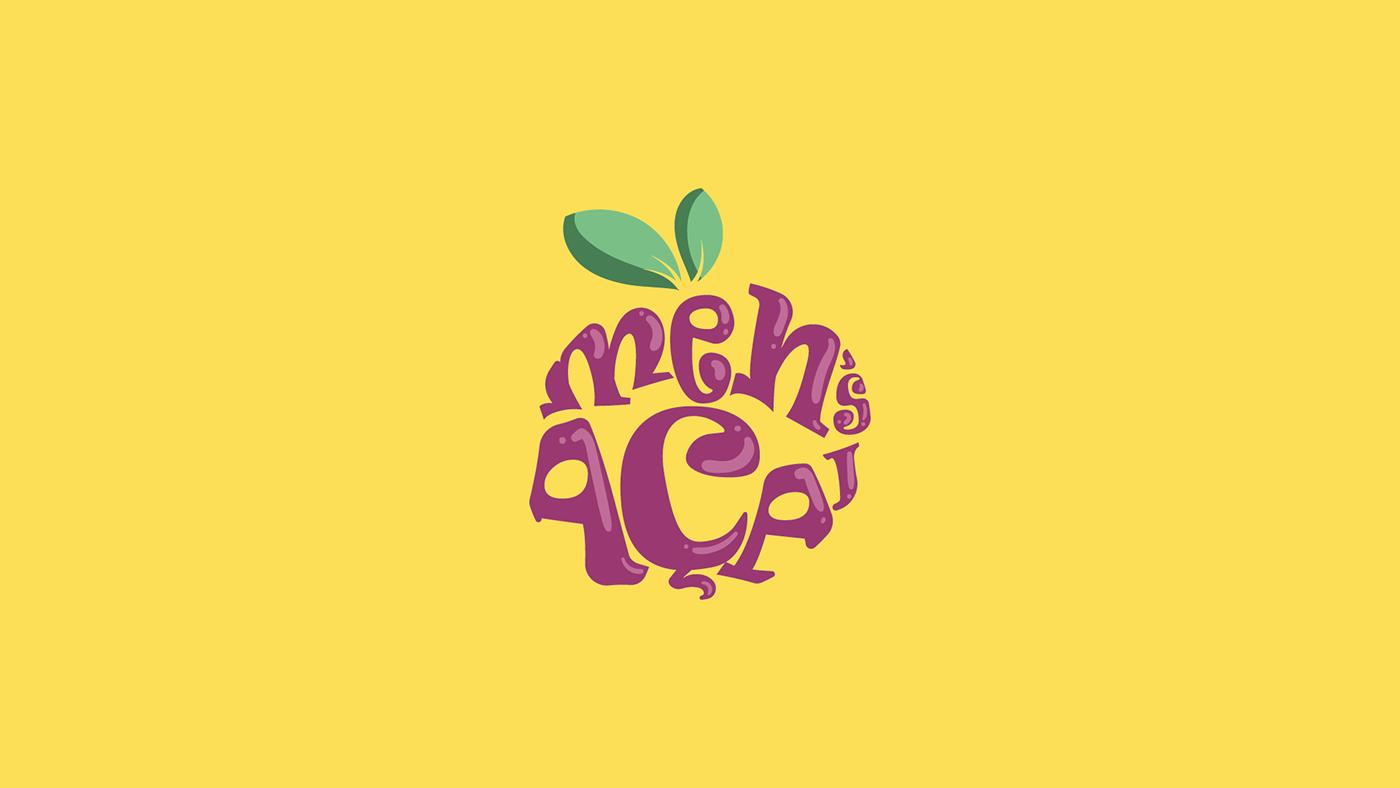 acai identidade visual Logotipo roxo