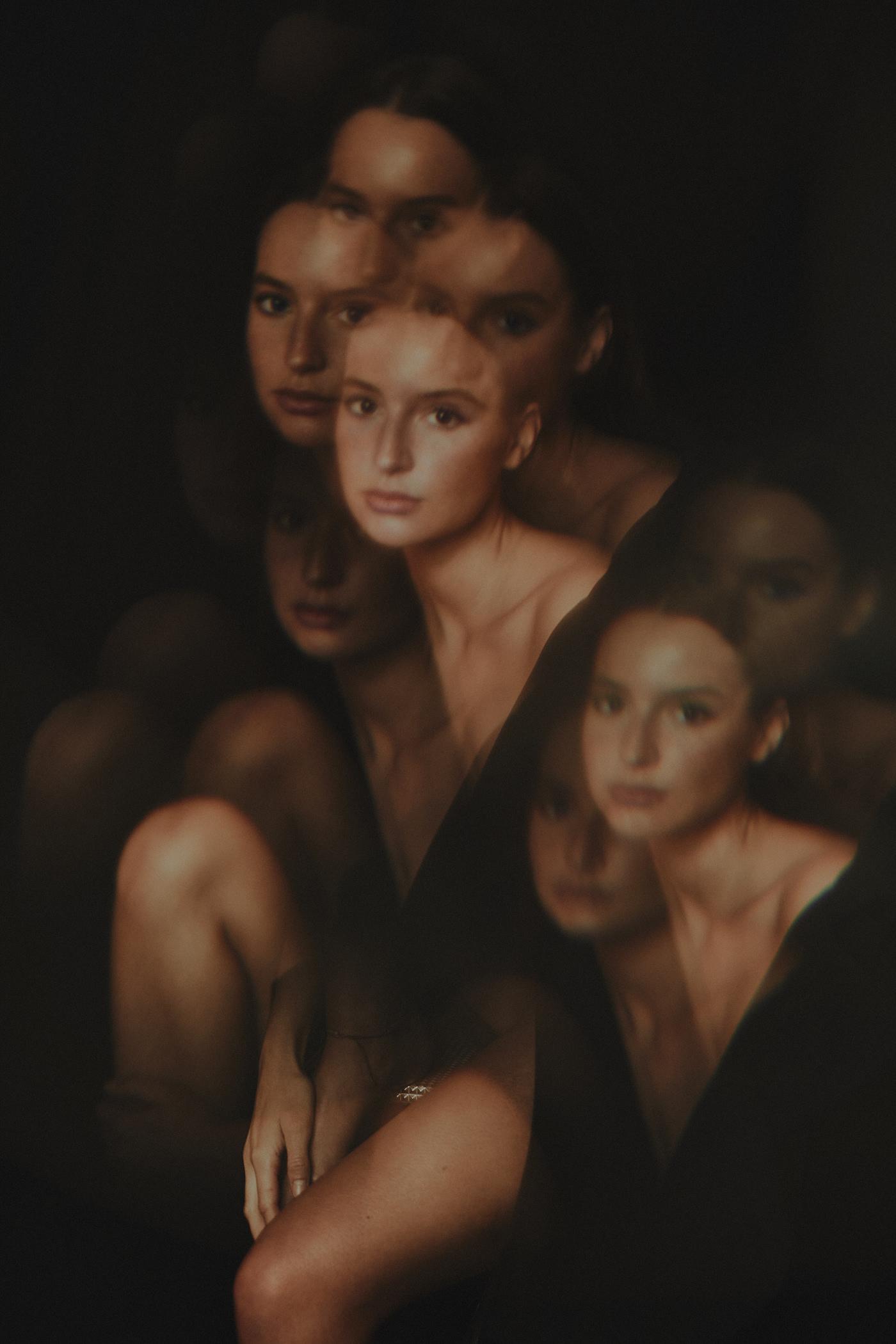 fashion portrait kaleidoscope model Paris portrait prism