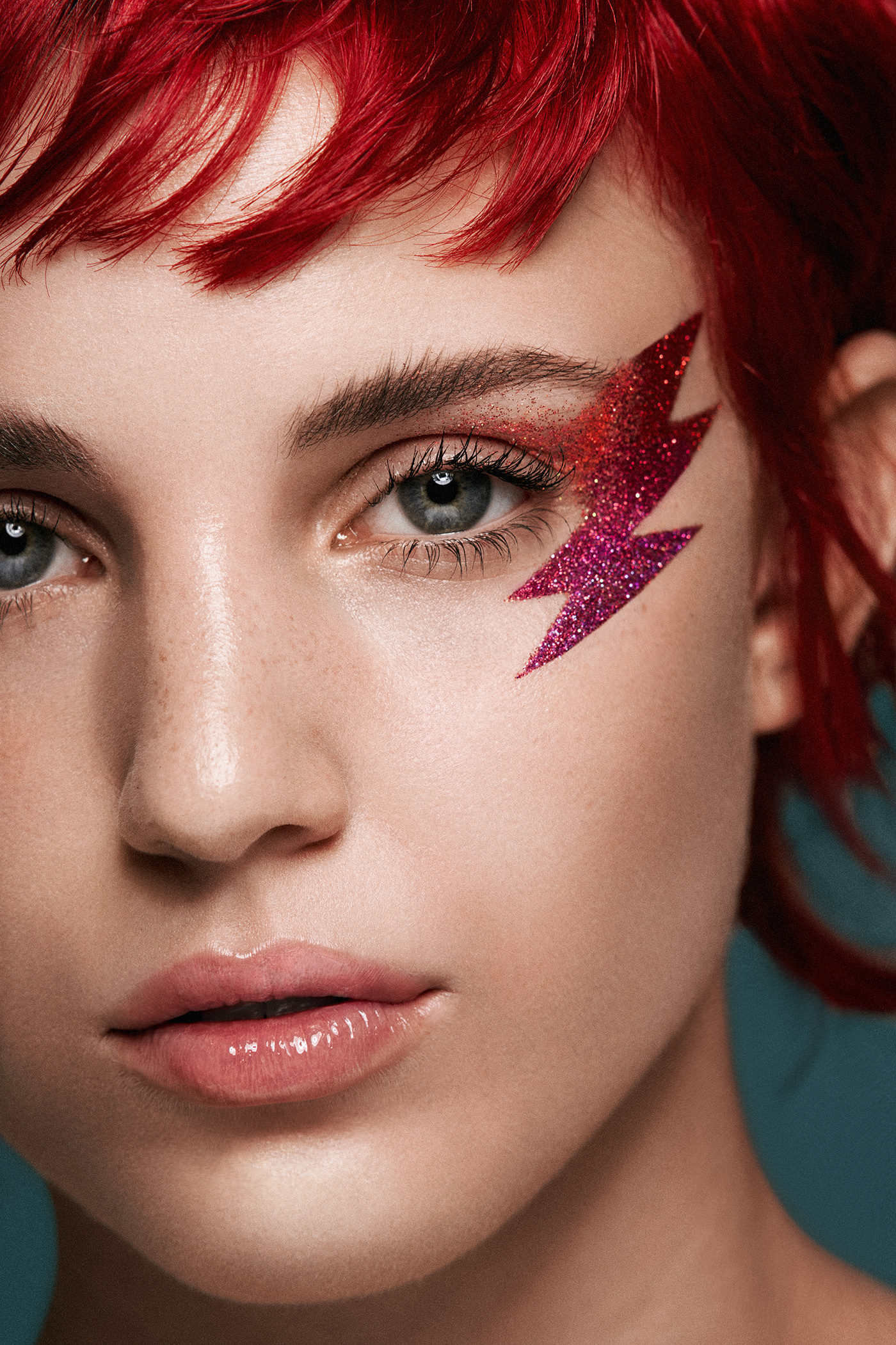 beauty closeup editorial macro makeup portrait
