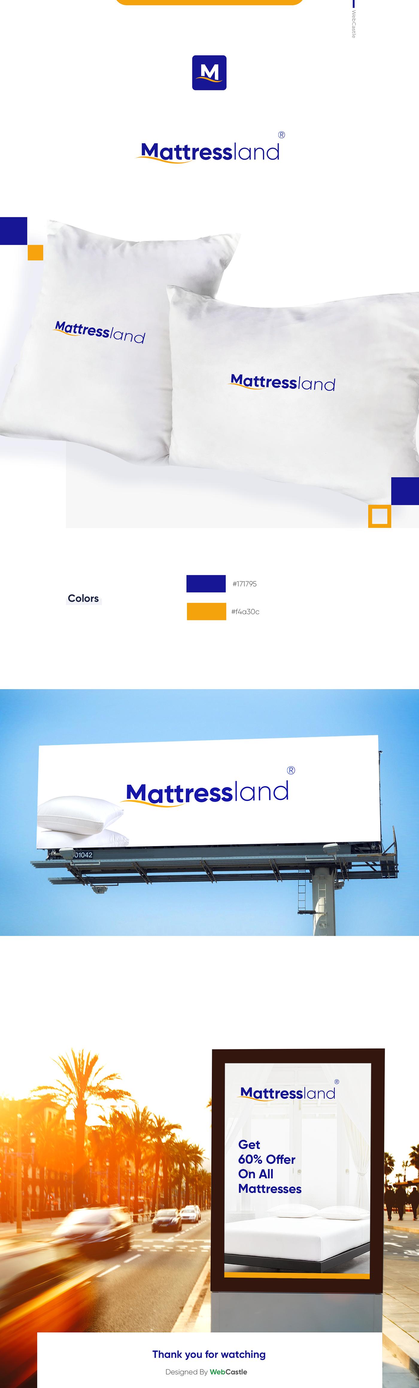 logo branding  mattress logo Logo Design mattress bed identity design
