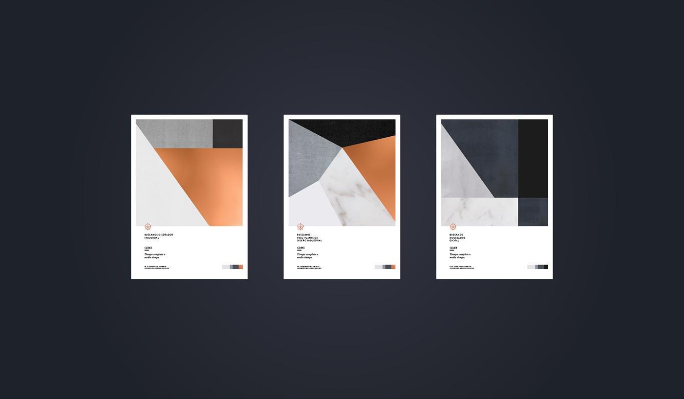 Adobe Portfolio,rebranding,copper,foil,geometry,grid,art,poster,Stationery,Web,social media,pentagono,mexico,mexico city,color,artwork