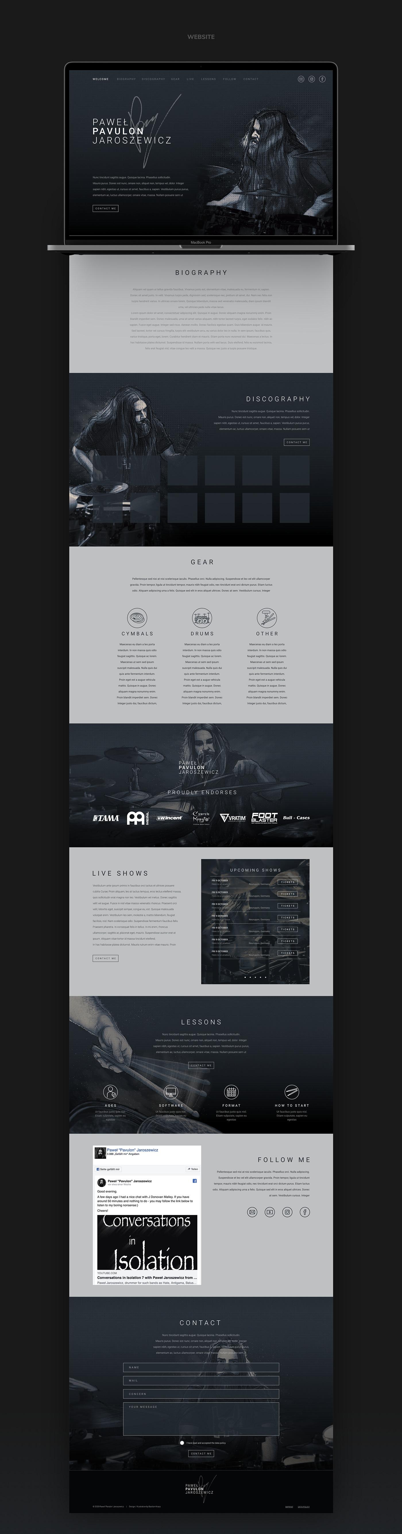 PAVULON // Website