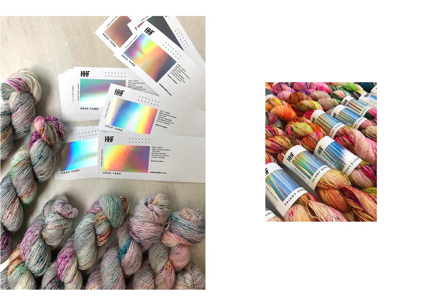 branding  colour gradient Yarns knitting logo Website Glitch modern bright