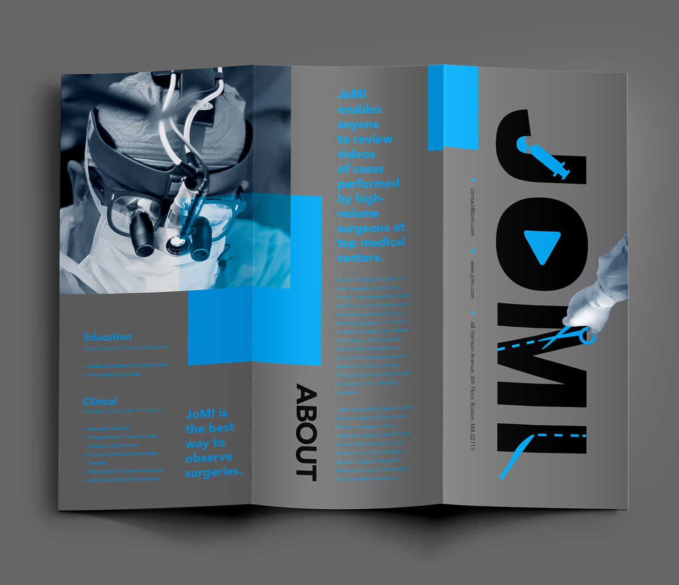 JOMI surgical video rebranding campaign on Behance