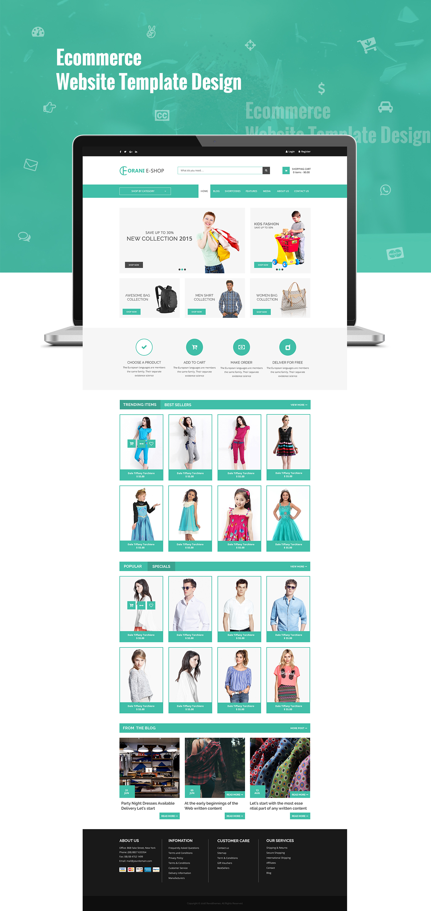 Orani Ecommerce Html5 Template Free Download On Behance