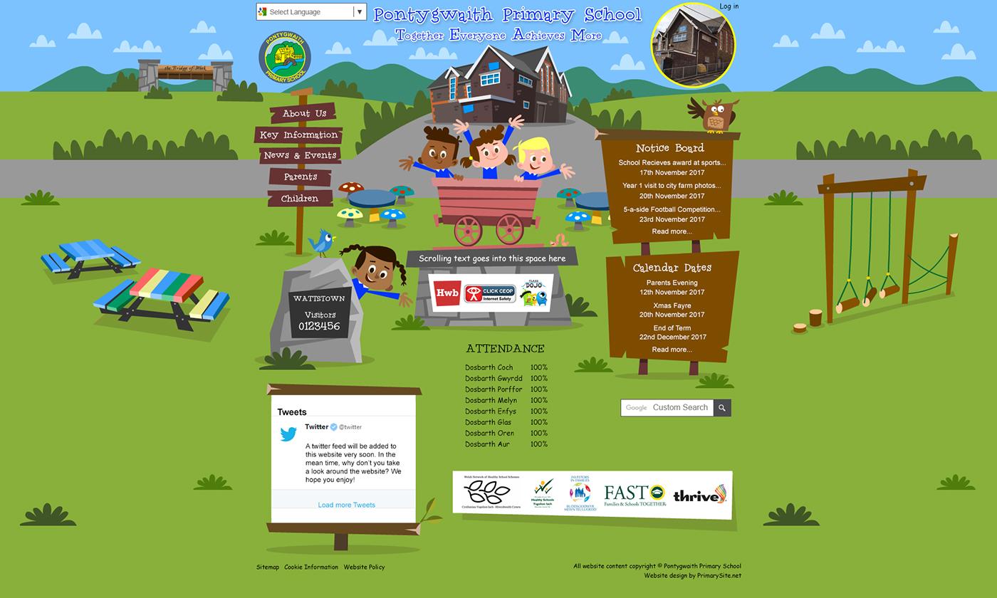 School Website Homepage Space