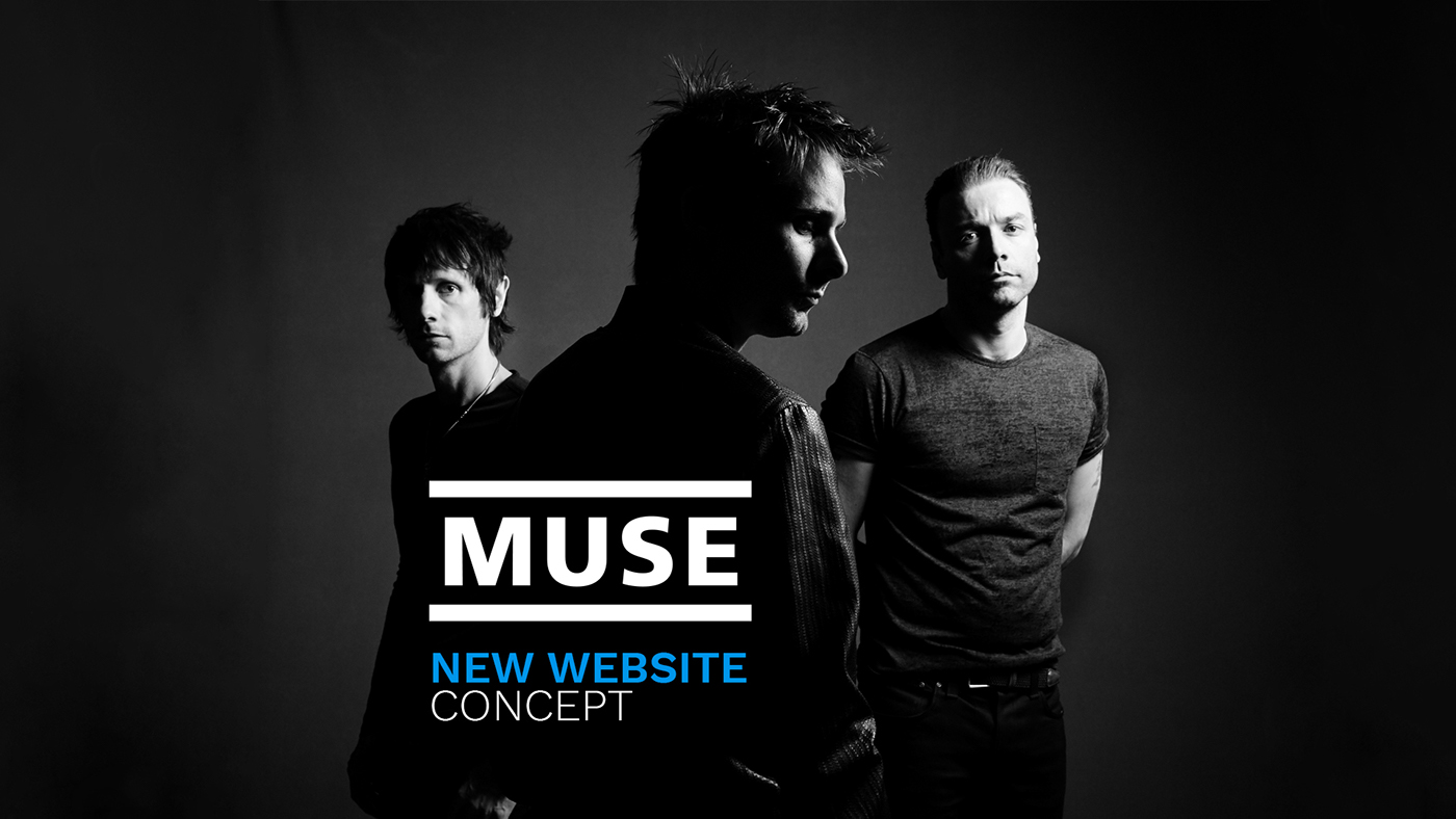 Website muse band graphic design  HTML css HTML and CSS