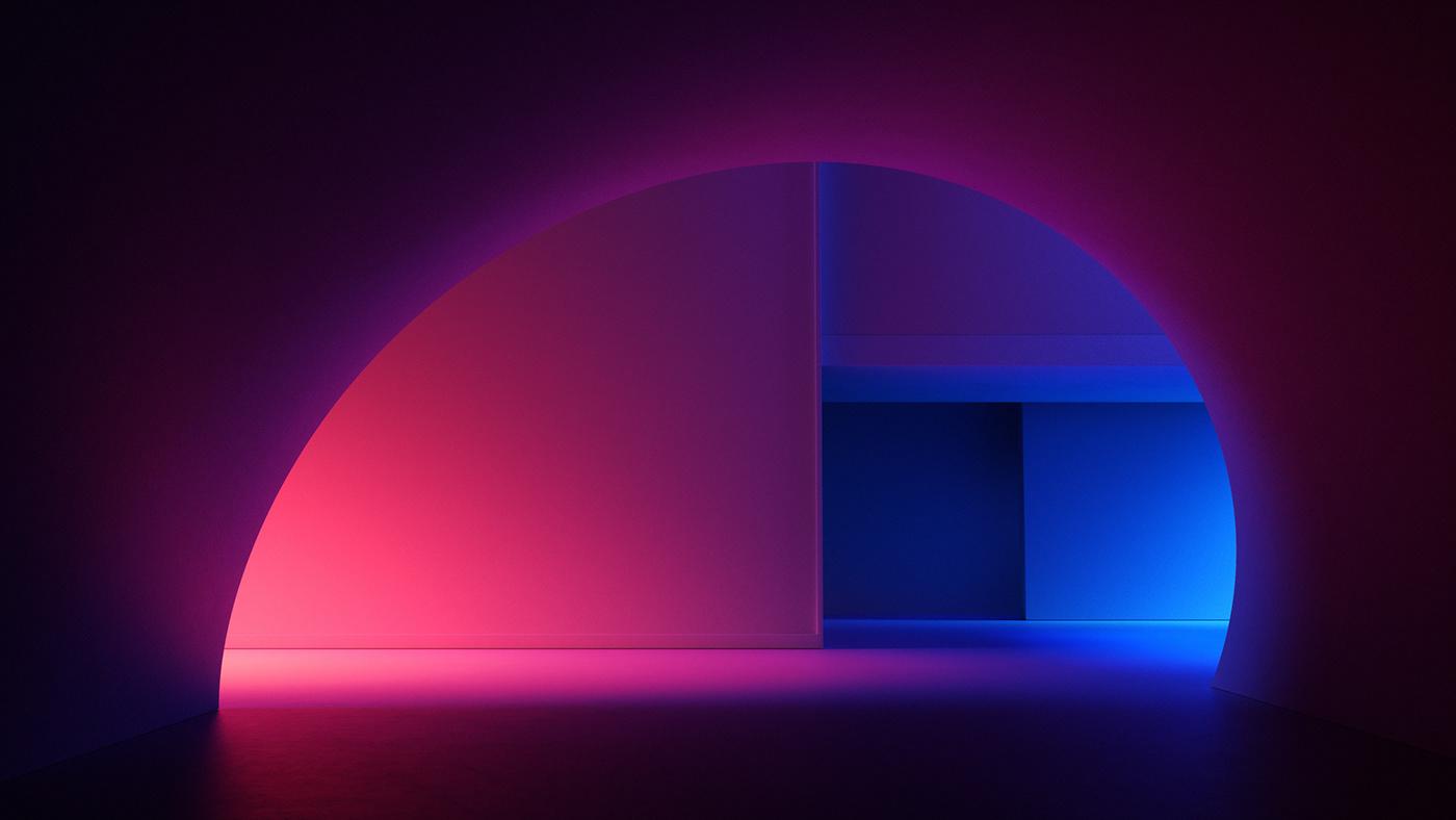 3D aesthetic c4d light motion tech ces gradient Interior Title