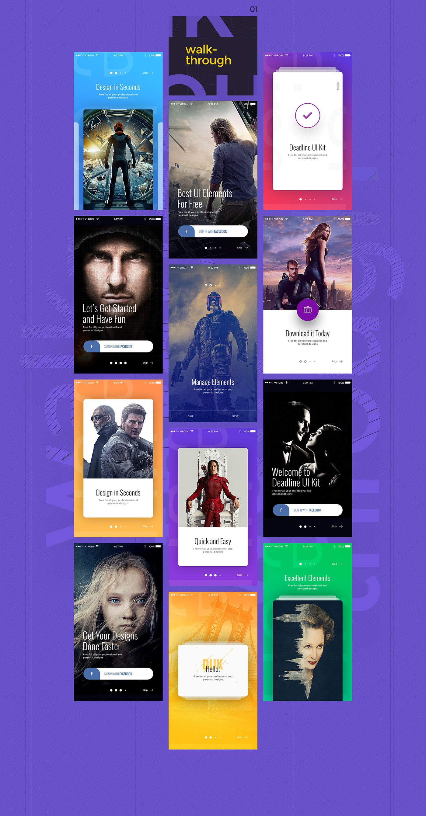 free ui kit Mobile UI Kit ios kit application Application Design ios aplication  deadline ui kit free free psd psd Free IOS Kit