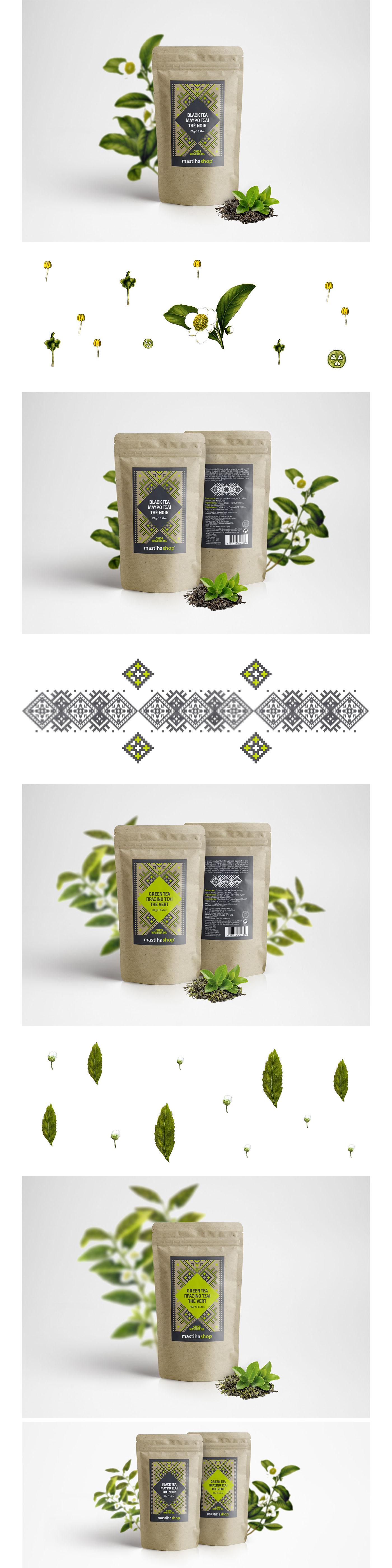 Mediterra SA Ceylon extract beverage Chios mastiha oil Packaging product design series print Greece