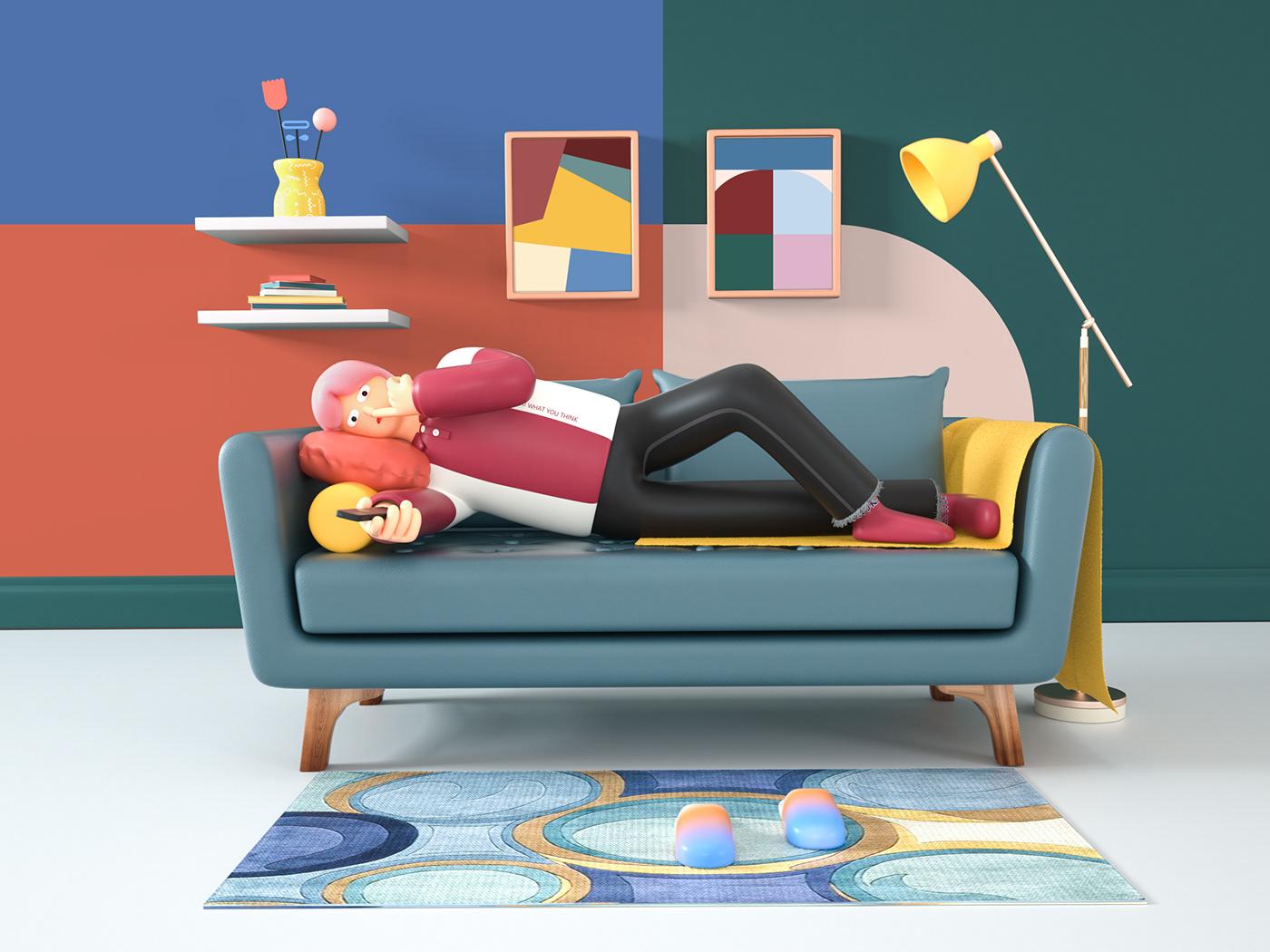 Image may contain: cartoon, screenshot and furniture