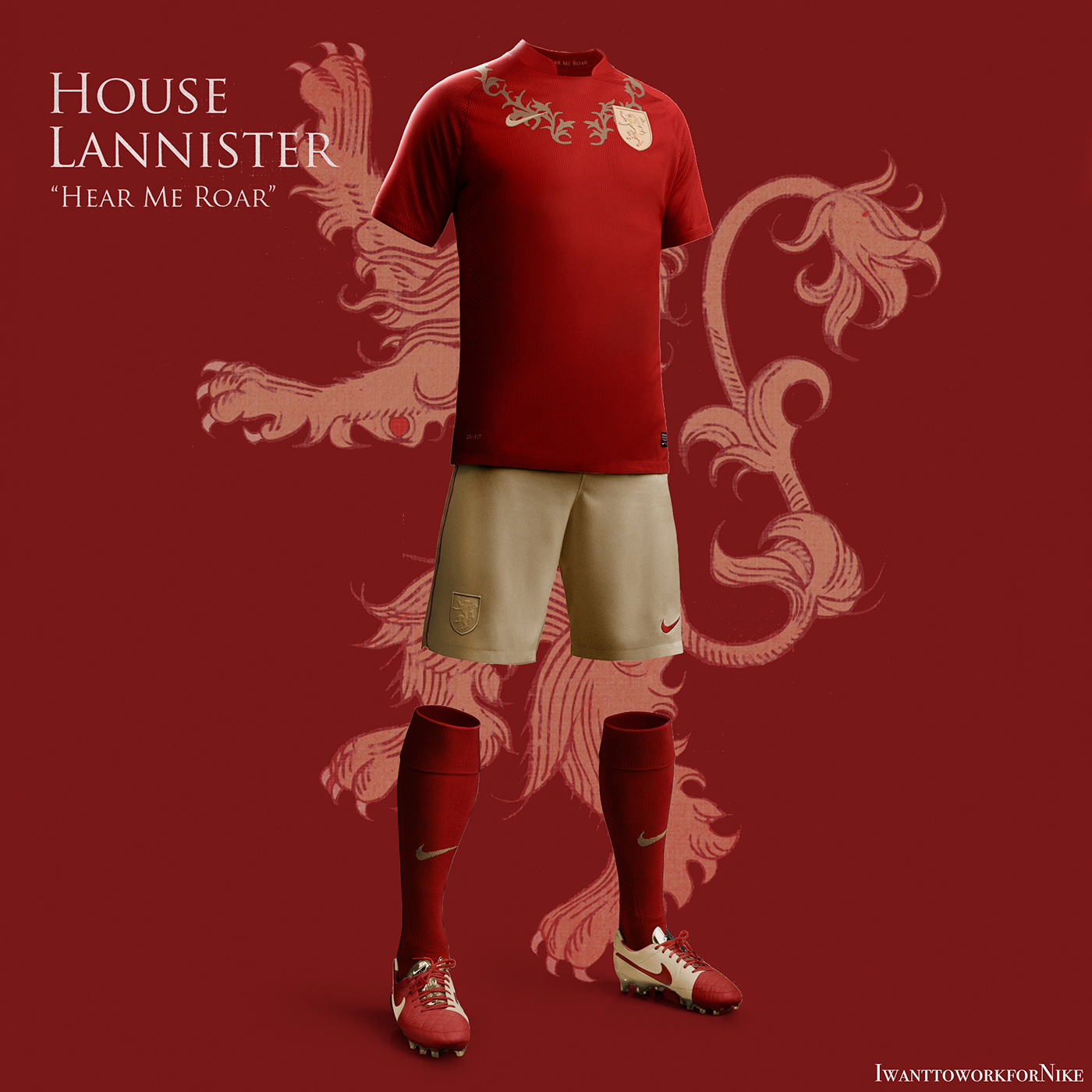 got Game of Thrones house stark Nike football soccer Nerea Palacios got kit got football