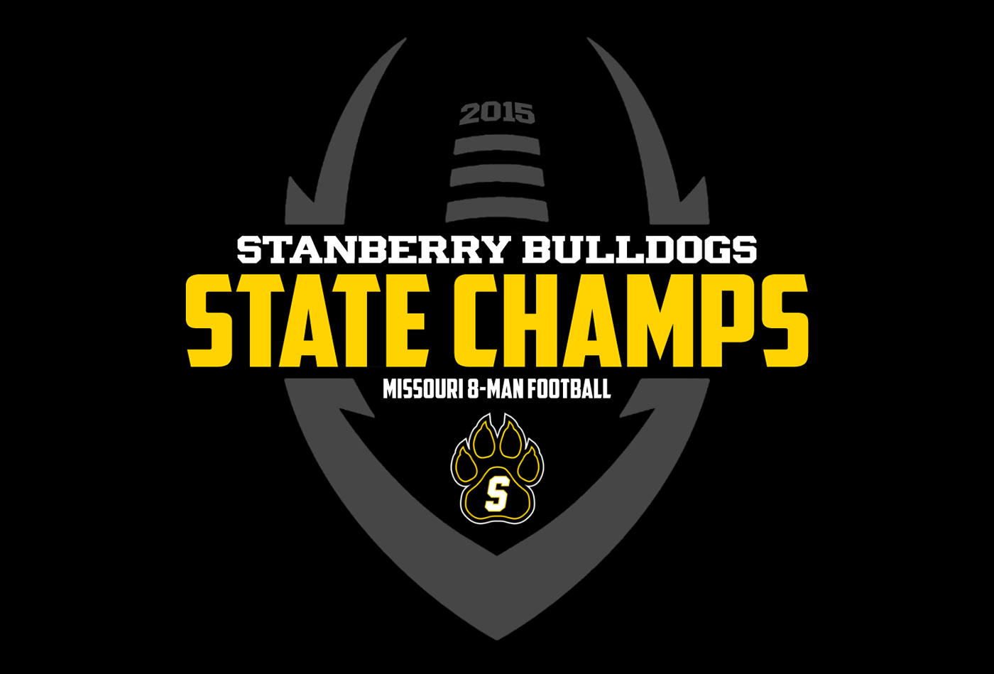 2015 stanberry bulldogs state champions t shirt on behance for National championship t shirts