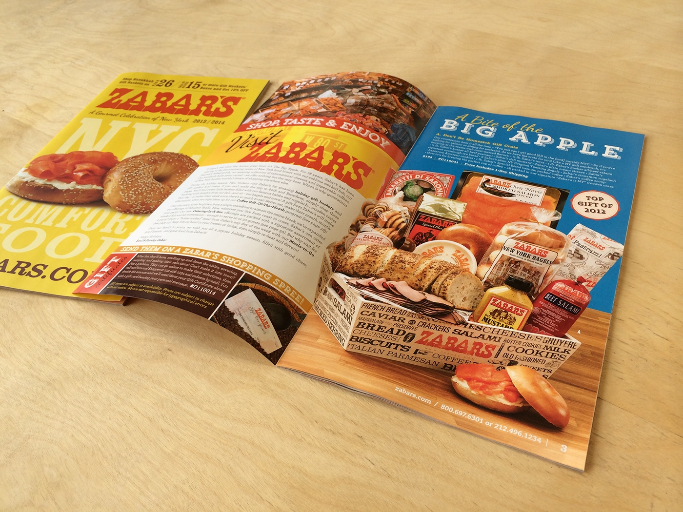 Zabar's Catalog Design of Cover and Welcome page in perspective