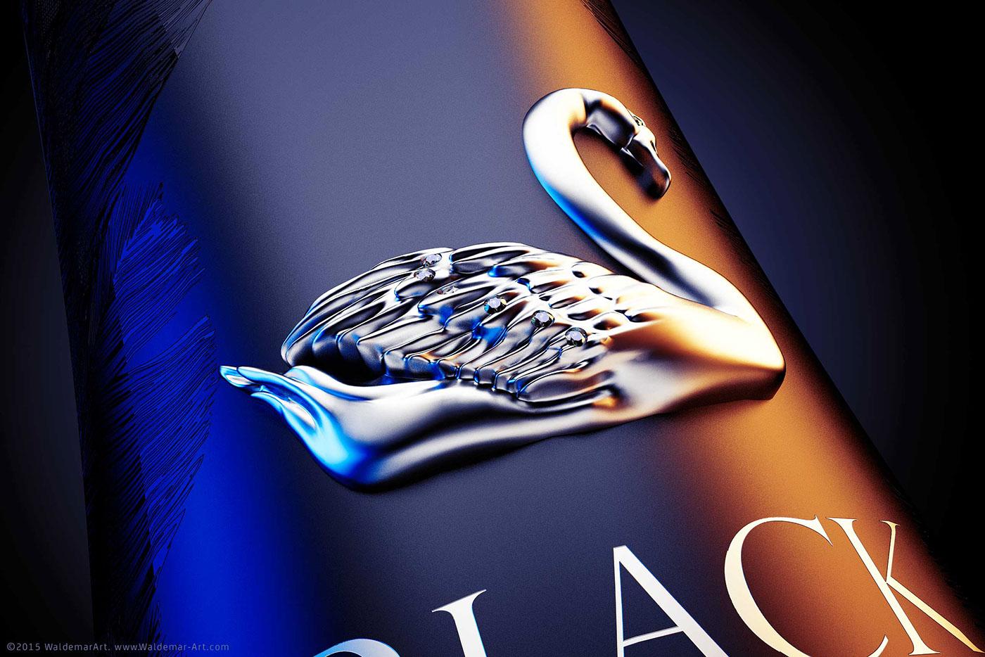 Vodka  blackswan  Black  Swan  premium  Jewelry
