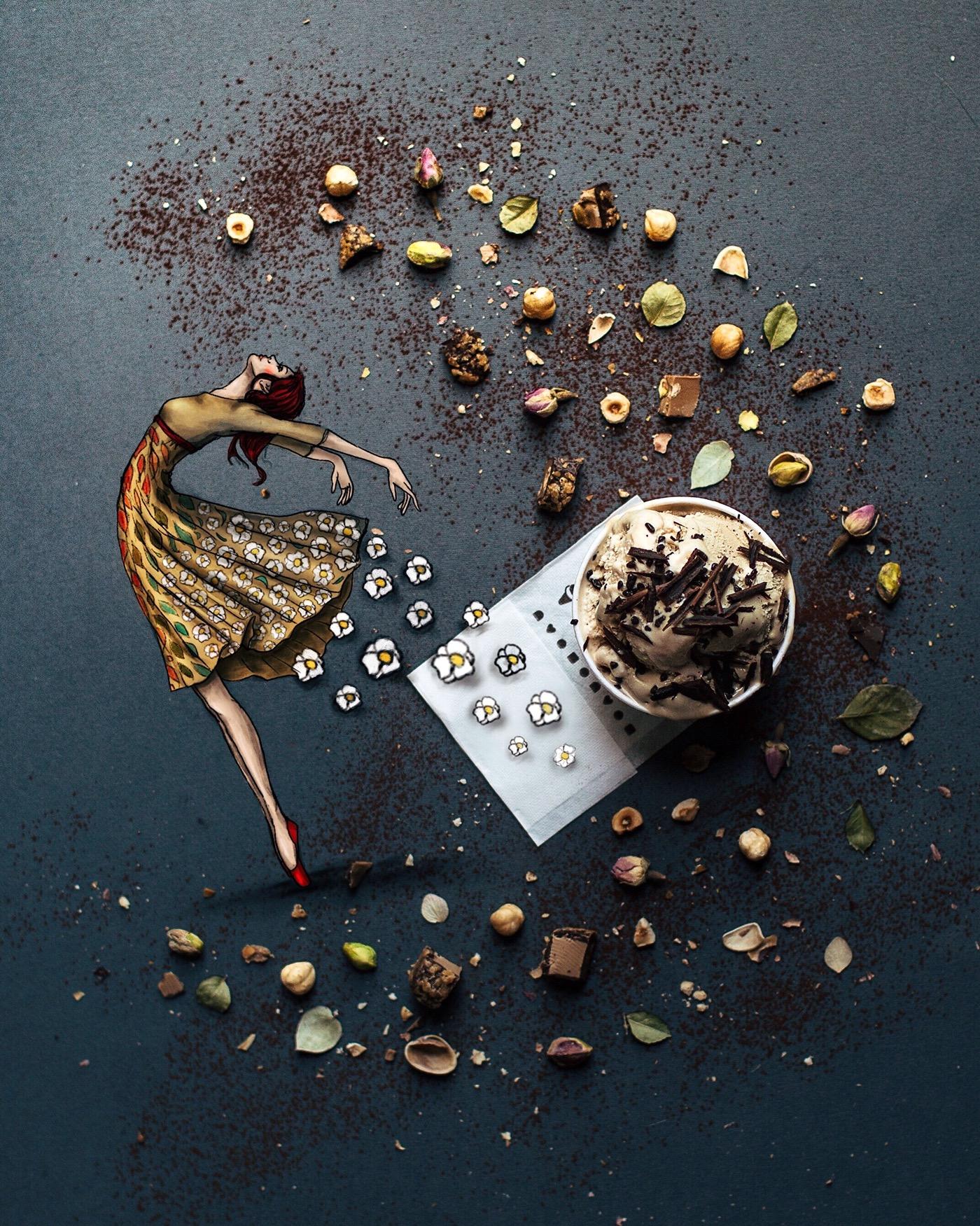 кофе открытка креатив