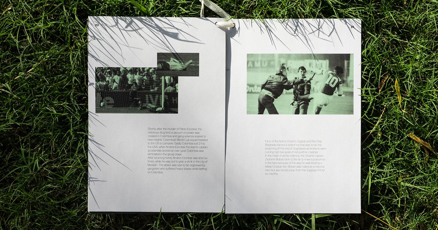 editorial design  type typography   graphic design  Layout grid football warfare design