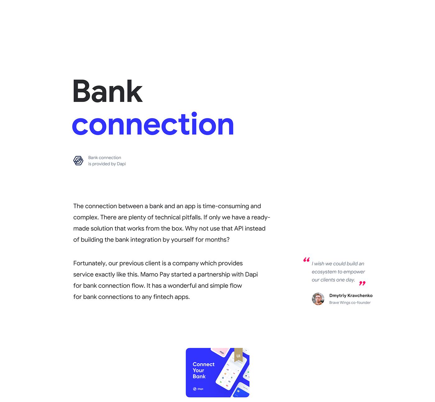 app design Bank Fintech landing page mobile UI UI/UX user interface ux
