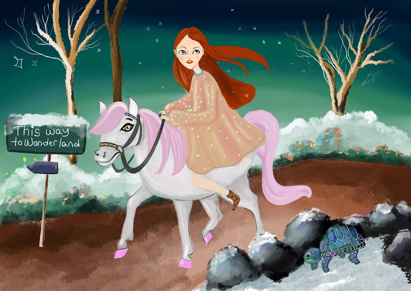 ILLUSTRATION  chıldrenbook chıldbook Procreate fairytale digitalillustratıon children bookdrawing story graphıcdesıgn