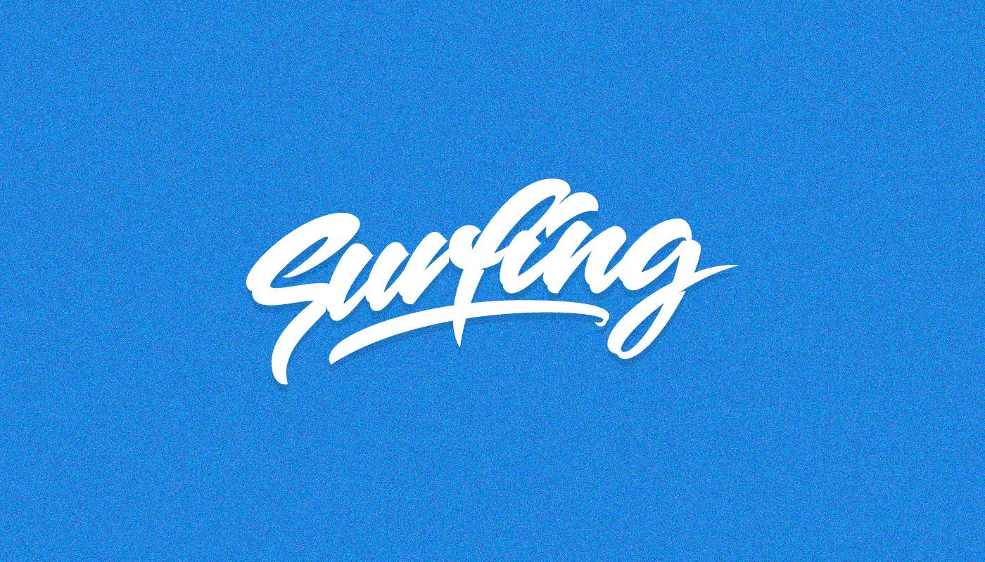 surfing Surf free vector surfpack surfboard Australia lettering typography   surfer