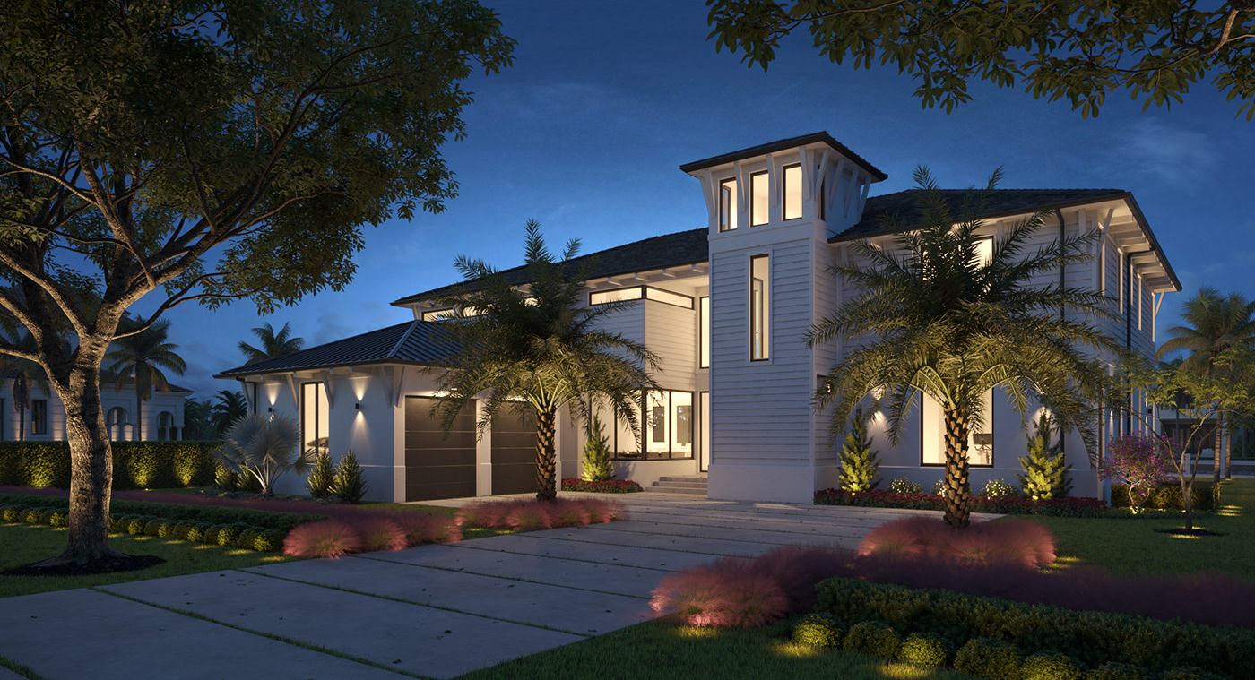 3dsmax architecture archviz aurora renderings CGI corona render  exterior house Render Residence
