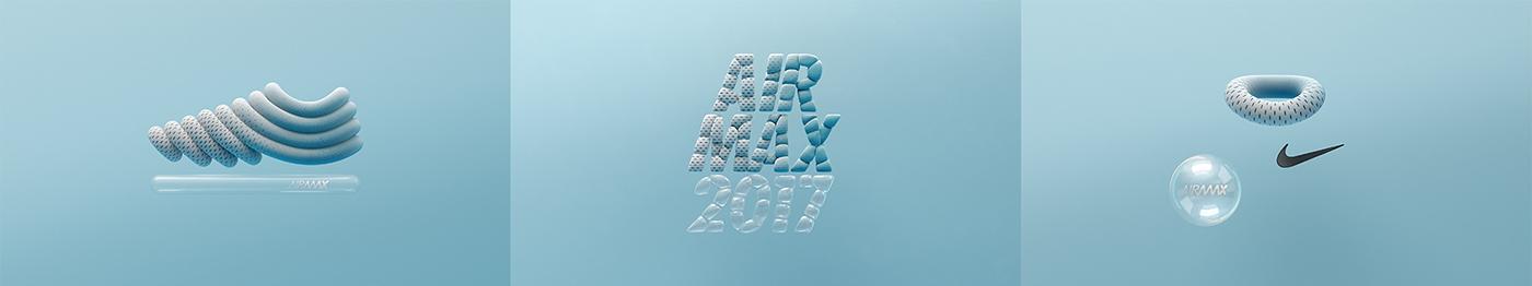 Nike airmax cinema 4d 3D manvsmachine mvsm houdini vray bubble air