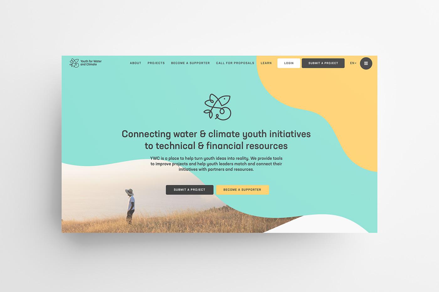 branding  colorful logo NGO nonprofit water Webdesign Website youth