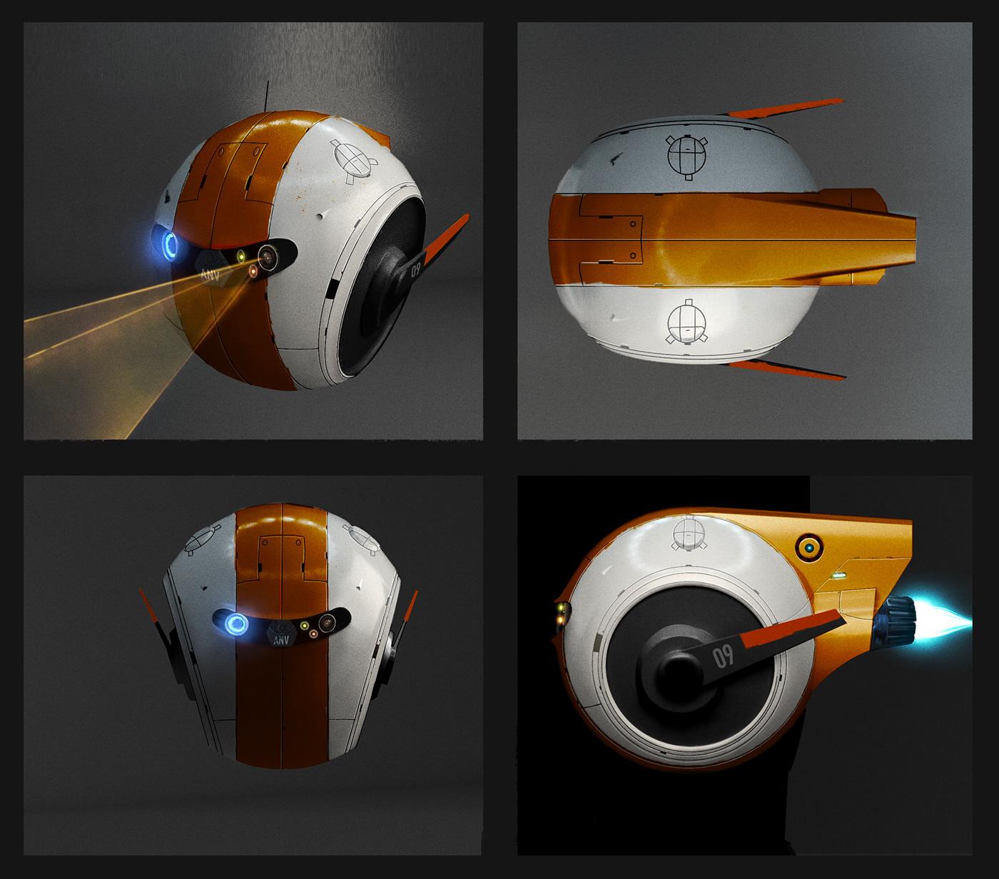 commercial concept art design dron future Procreate produtions robot Spots visuals
