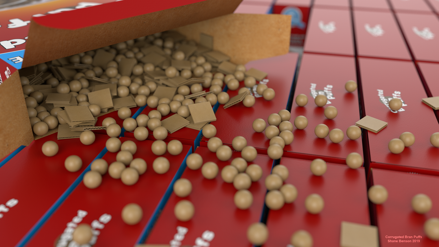 Cereal Packaging c4d cinema4d arnold Rugrats 3D