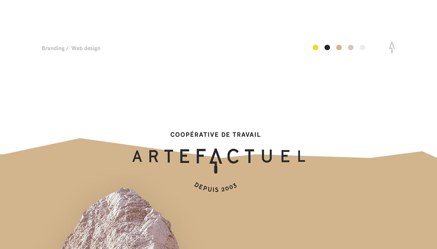 branding  identity acheology Website rocks Boulder construction artifact history Minimalism