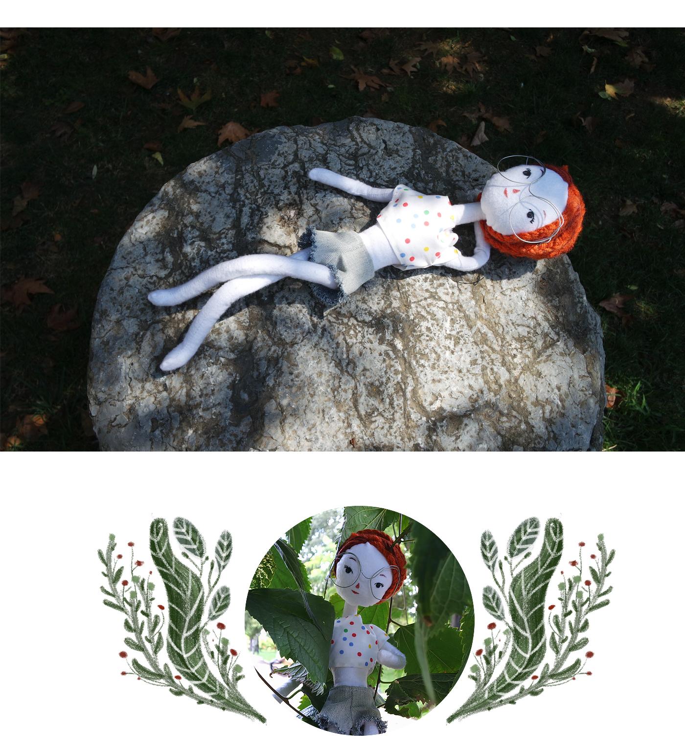 toy doll rag doll sewing toy design  handmade art doll