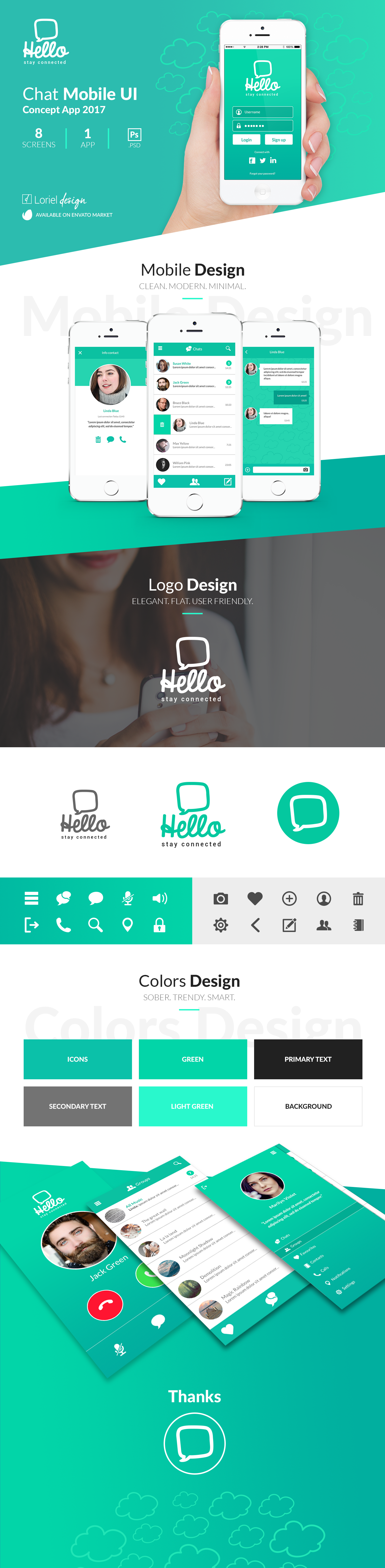 Hello - Chat Mobile Ui