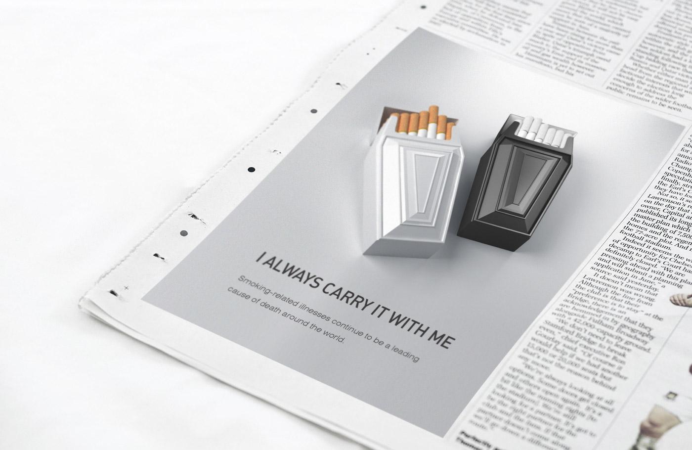 Pack package cigarette antismoke pack social advertising identity logo development brand identity mark sign applications Logotype social smoke antismoke