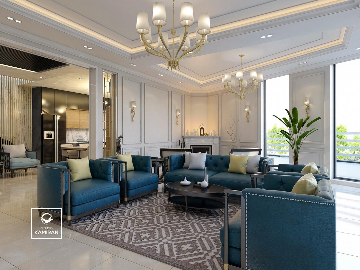 Classic Modern Living Room & Kitchen  Duhok on Behance