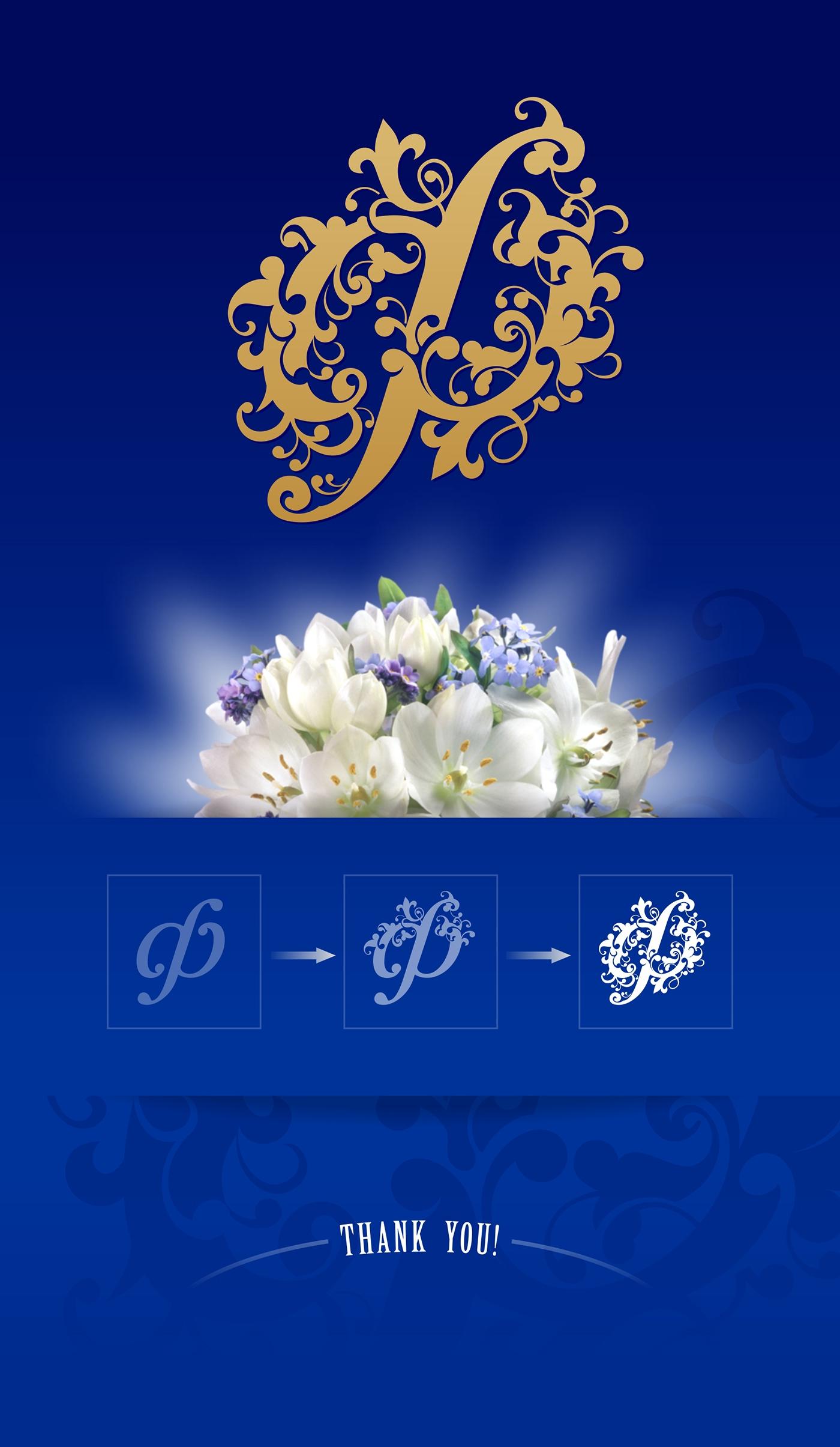 florist initial letterf logo sign decorative ornament