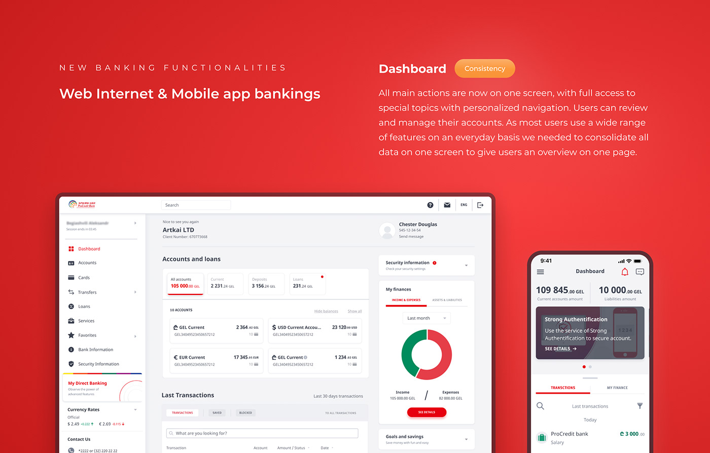 artkai bank ux banking BFSI Fintech Internet Banking mobile banking neobank online banking UX for bank
