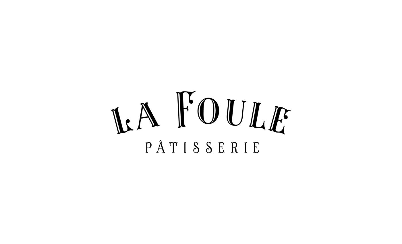 branding  Patisserie French bakery macarons Retro la foule patisserie sweet