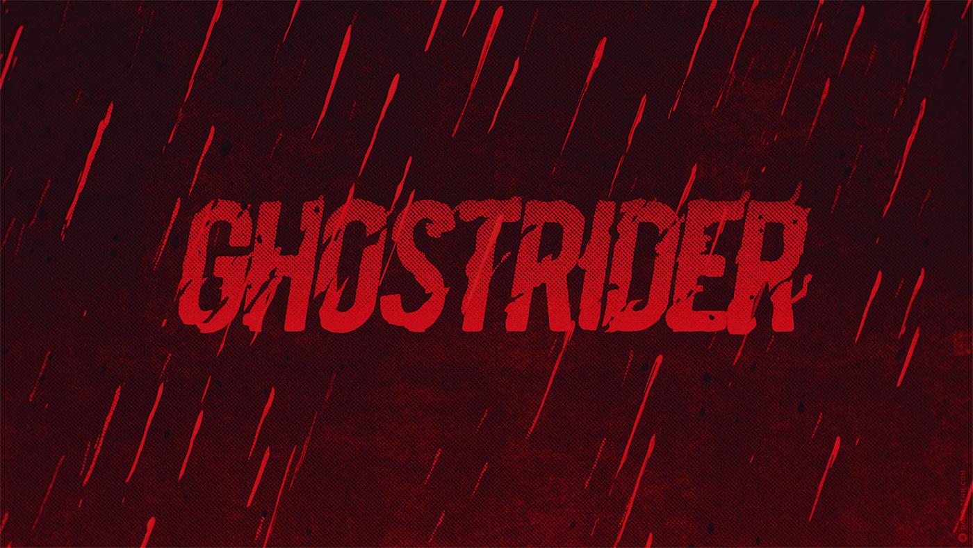bts design ghostrider ILLUSTRATION  pitch titles Titles Design wip