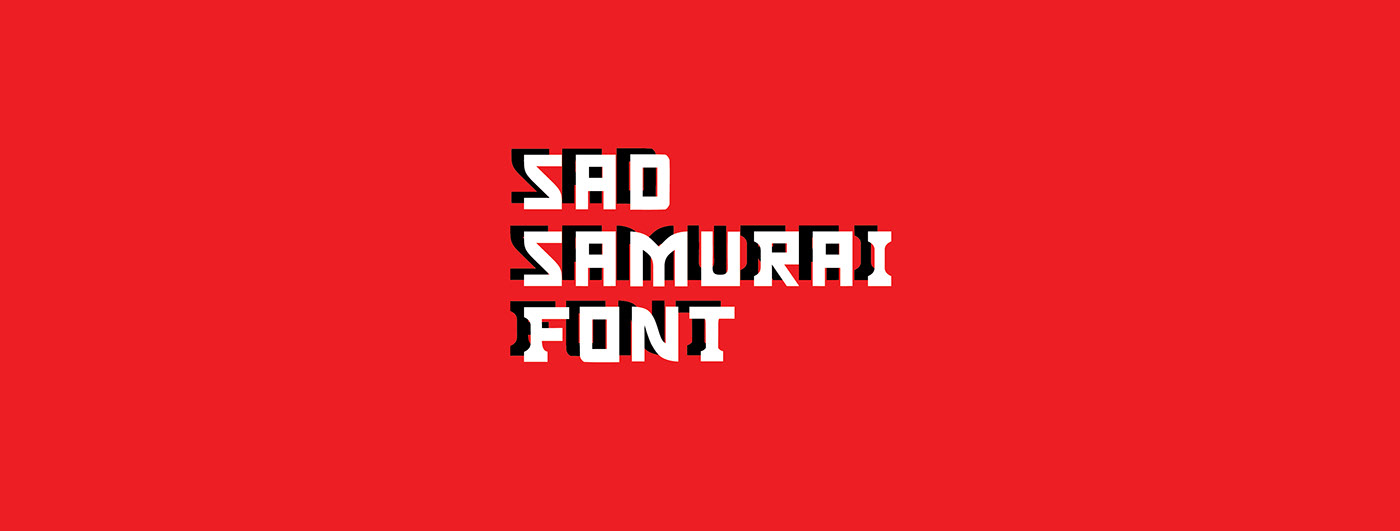 typography   font samurai sadsamurai sadsamuraifont typo ABC alphabet