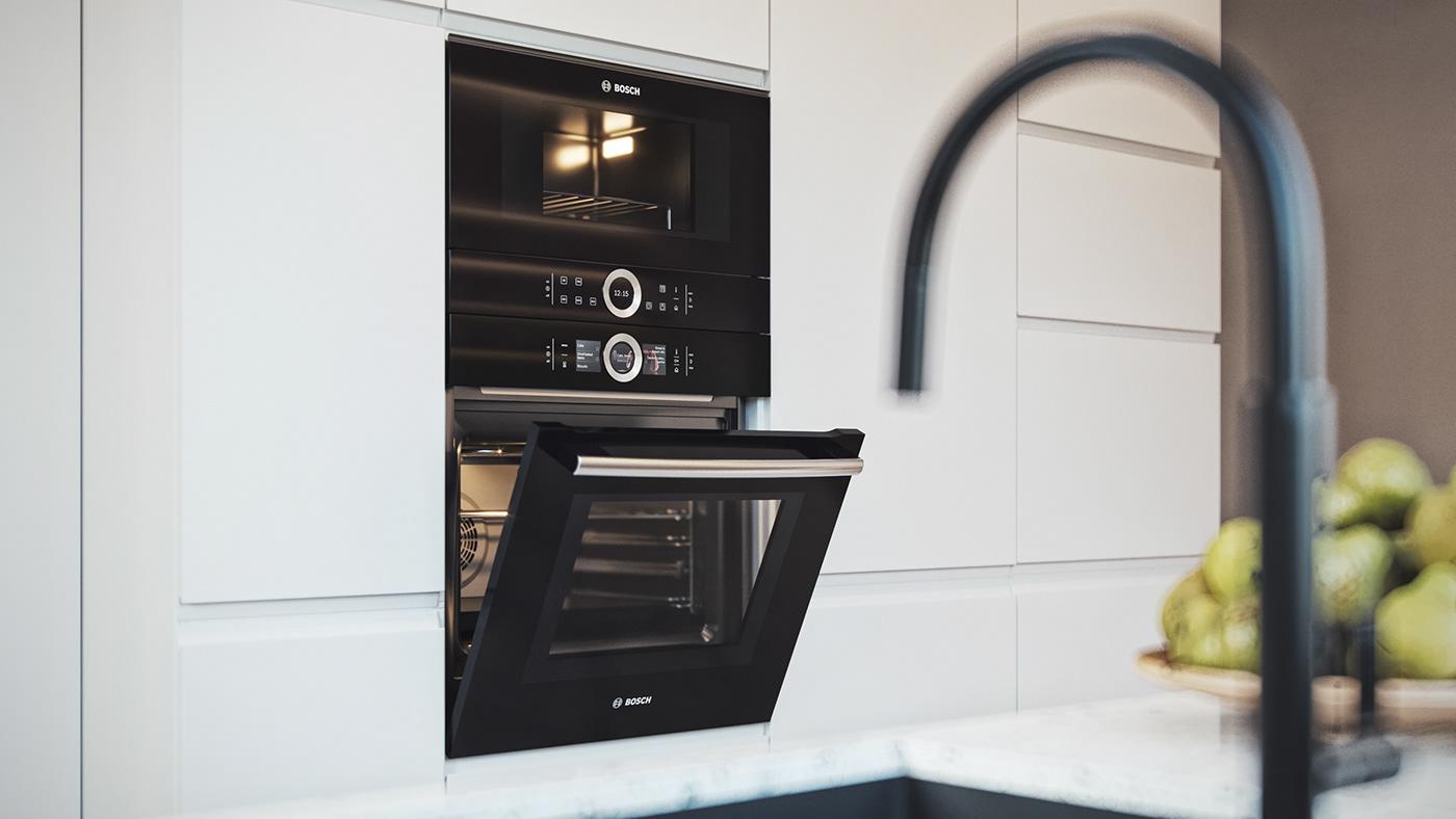 corona design dining house Interior kitchen pampas Render