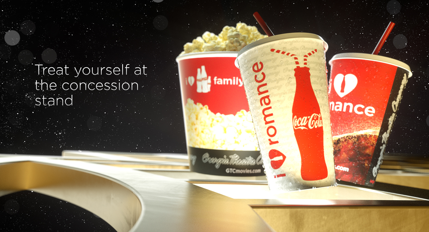 MoGraph 3d animation concessions coke Coca-Cola Theatre Movies