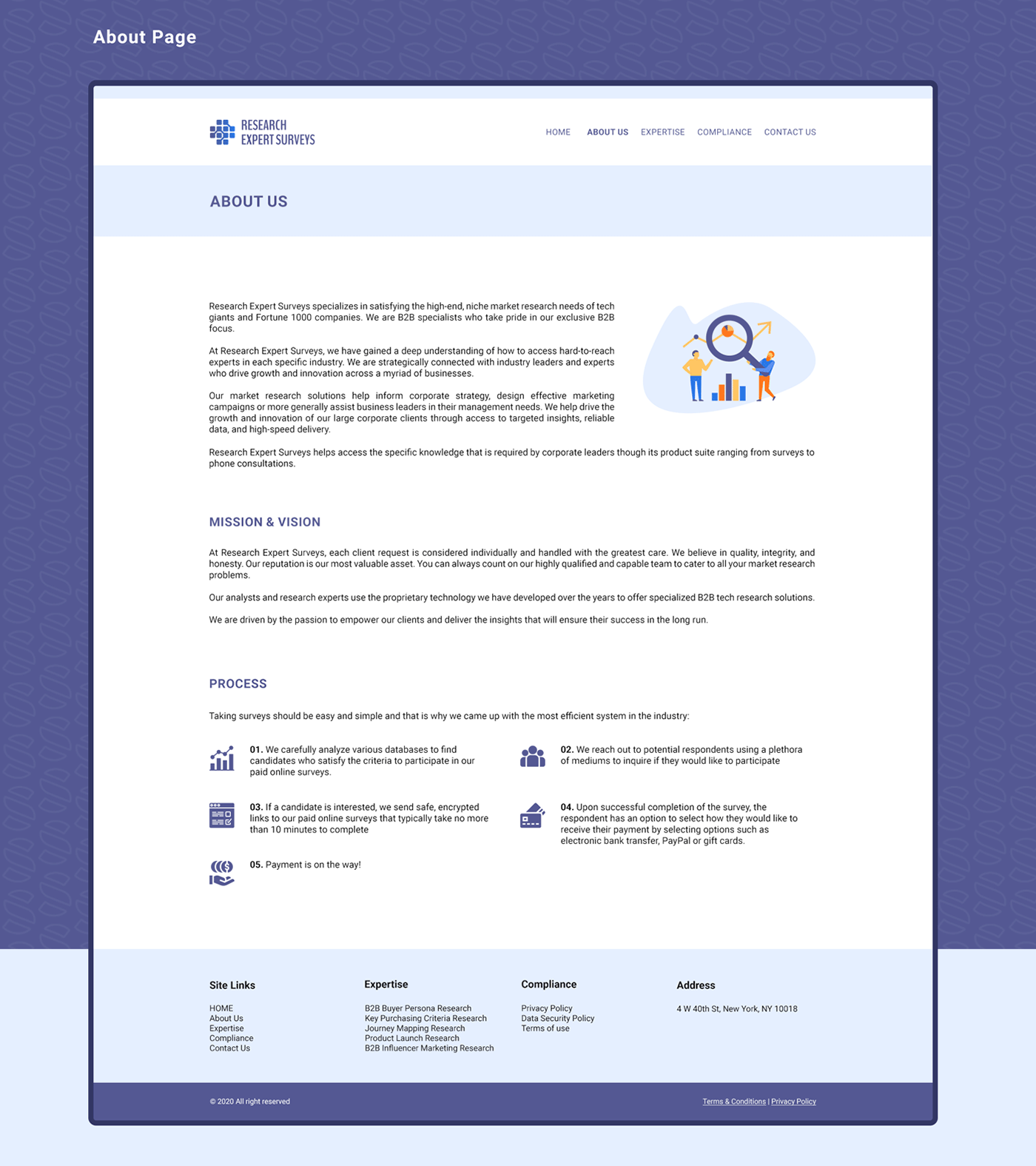 blue design orange purple UI Web Website