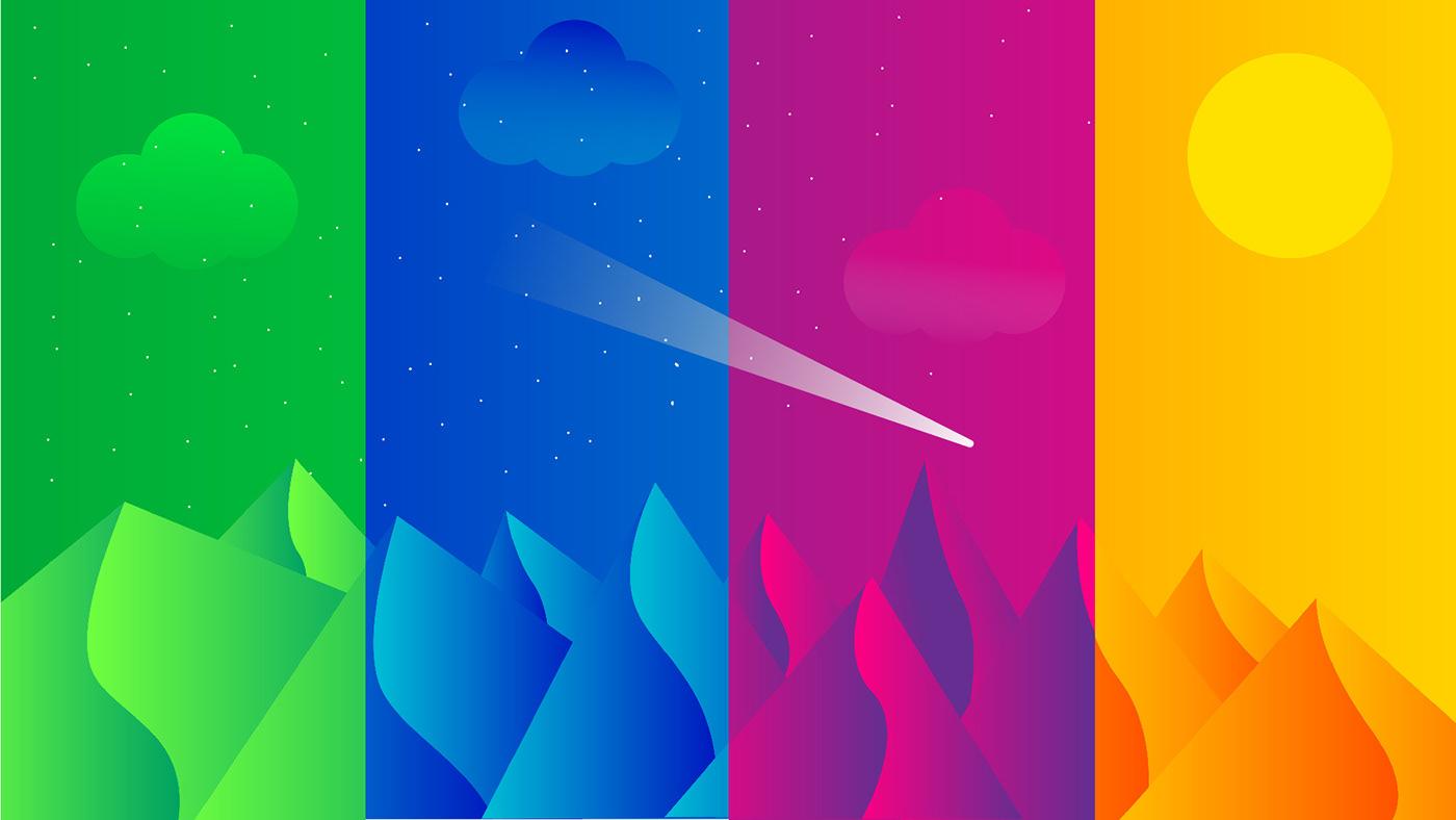 Illustrator abstract adobe flat Landscape vector Starwars desert HD adobeawards