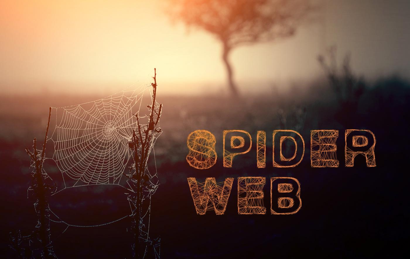 spider font type helvetica Helvetica-bold