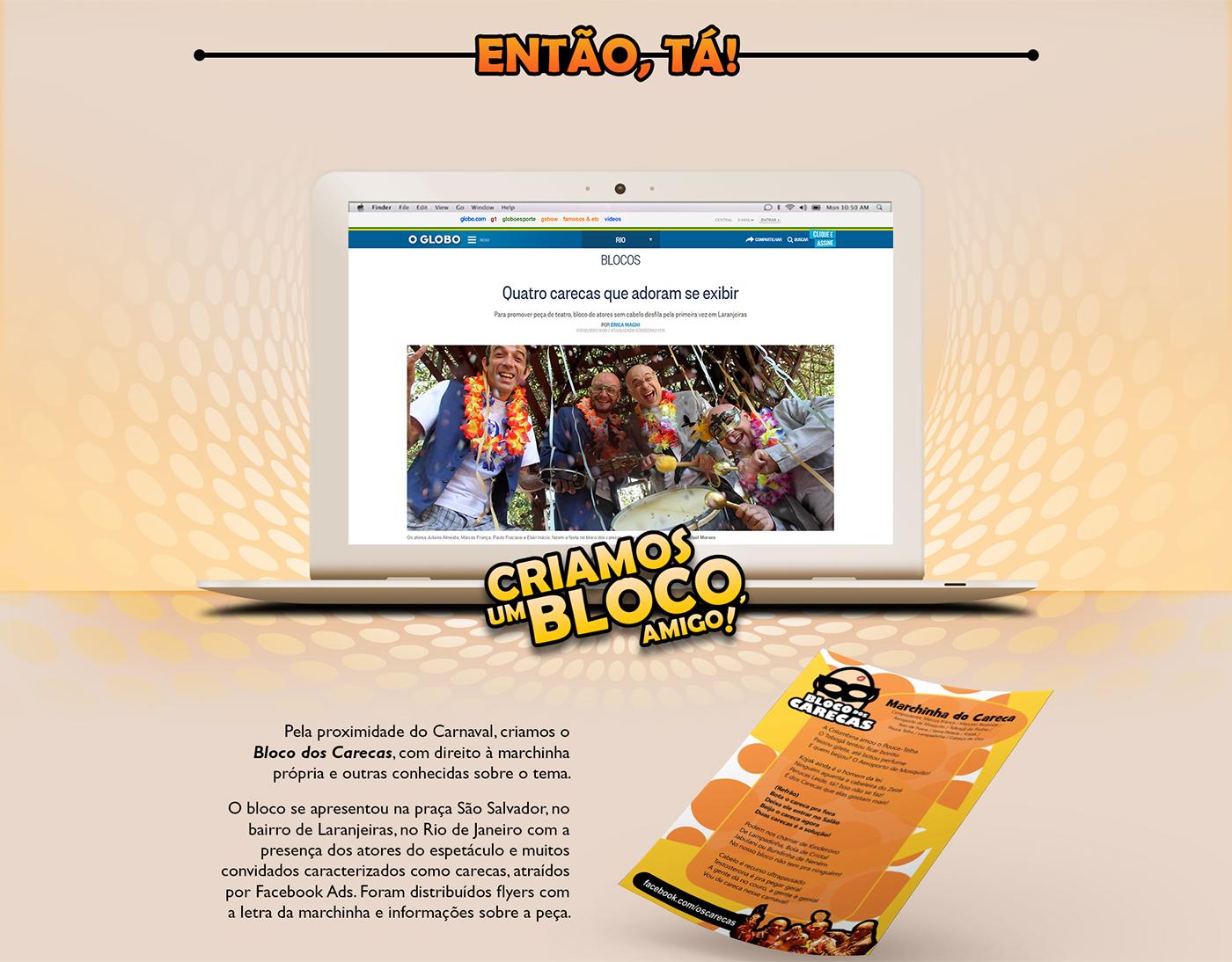 campanha,publicidade,Advertising ,social media,mídia social,facebook app,aplicativo para facebook,Carnaval,bloco,marchinha