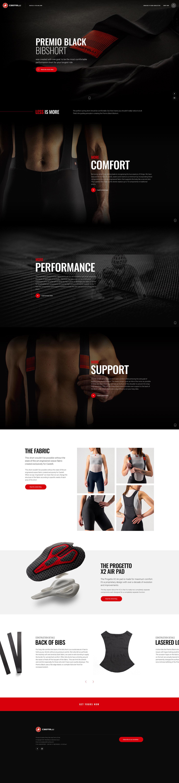 castelli Cycling sports Sportswear black landing page scroll