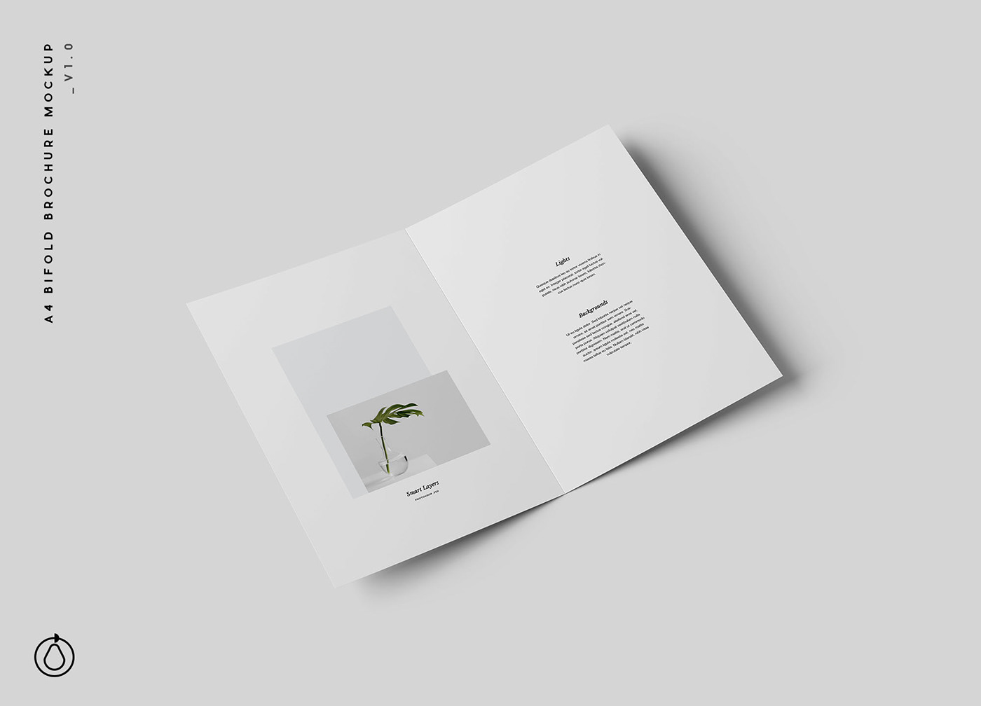 bifold brochure mockup psd on behance